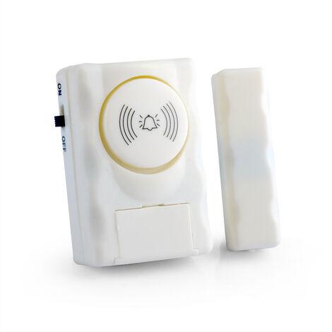 Wireless Home Security T¨¹rfenster-Alarmwarnsystem 90 dB Alarmton Magnetischer T¨¹rsensor Unabh?ngiger Alarm Drahtloser T¨¹rdetektor,Wei?