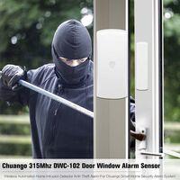 Chuango 315Mhz DWC-102 T¨¹rfenster-Alarmsensor Drahtloser Automatisierungs-Intrusion-Detektor f¨¹r den Diebstahlschutz f¨¹r das Chuango Smart Home-Sicherheitsalarmsystem,Wei?