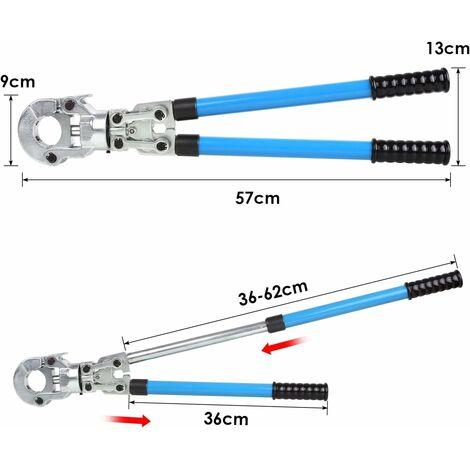 FEMOR Rohrpresszange Zangen-Sets TH Kontur Presszange mit Mehrschichtbacken 16mm-20mm-25mm-32mm für PEX-Rohre, Verbundrohr (TH)