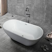 Vasca da Bagno Freestanding Ovale Installazione indipendente Design Coo