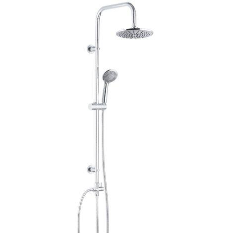 Duschset Garo Duschsystem Duschsäule ohne Armatur, Chrom Regendusche Duschsäule