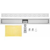 Caniveau de douche 90cm bp03 - Profil de lineaire - evacuation d eau - siphon de sol - acier inoxydable - acier inoxydable