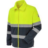 Polaire de travail Würth MODYF haute-visibilité jaune/marine - 3XL