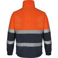 Polaire de travail Würth MODYF haute-visibilité orange/marine - 3XL
