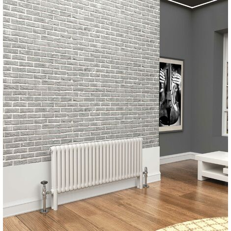 TradeRad Premium White 2 Column Horizontal Radiator 500mm x 1194mm