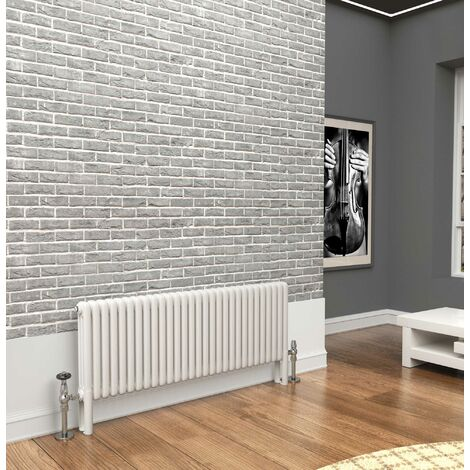 TradeRad Premium White 3 Column Horizontal Radiator 500mm x 1374mm