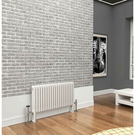 TradeRad Premium White 3 Column Horizontal Radiator 500mm x 834mm