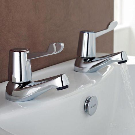 Kartell Leva Brass Bath Tap Pair
