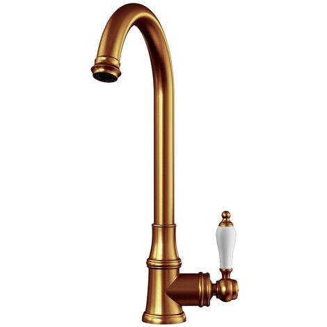Ellsi Elect Traditional Style Kitchen Sink Mixer Tap with Swivel Spout Copper Finish