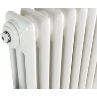 Eastgate Lazarus Steel White Horizontal 3 Column Radiator 600mm x 999mm - Electric Only - Thermostatic