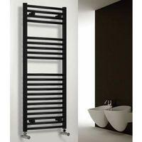 Reina Diva Steel Straight Black Heated Towel Rail 1800mm x 500mm Central Heating