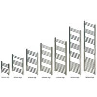 Eastbrook Wendover Straight Steel Chrome Heated Towel Rail 1600mm x 300mm Electric Only - Thermostatic