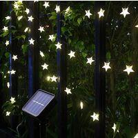 50 LED SOLAR STAR STRING LIGHTS
