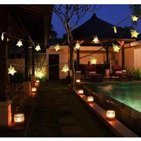 30 LED SOLAR STAR STRING LIGHTS