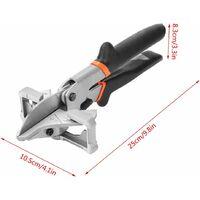 Abrazadera de inglete LITZEE: tubería de PVC con múltiples ángulos de corte, sello de inglete de múltiples ángulos, herramienta de corte, corte manual 0 ° -135 °, ajustable