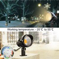 LITZEE Foco led exterior LED 7W 220V COB chip, Lámpara led empotrable de jardín, lámpara exterior con luz blanca cálida 3000K multiusos para caminos, plantas, balcón y terraza set de 2 [Clase energética A +]