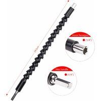 LITZEE 2 puntas de taladro flexibles de 11,6 pulgadas, destornilladores con vástagos flexibles para taladro eléctrico