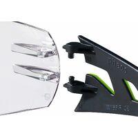 LITZEE Gafas de seguridad Pheos-Superior Supravision-Clear / Black Green