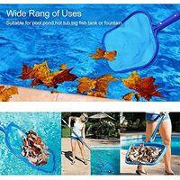 LITZEE Red para piscina, red para piscina, juego de espumadera para piscina, red de hojas con pantalla de malla fina y varilla de aluminio de 120 cm, juego de limpieza para piscina para limpiar hojas y escombros de la piscina (azul)