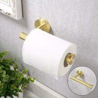 LITZEE Soporte para papel higiénico montado en la pared Soporte para papel higiénico Baño SUS304 Acero inoxidable Latón cepillado