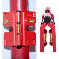 LITZEE Bubble Brick Tool, palo angolare regolabile in altezza, 188 x 134 mm