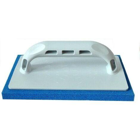 Frattazzo in gomma spugna blu grana fine 22x14 cm