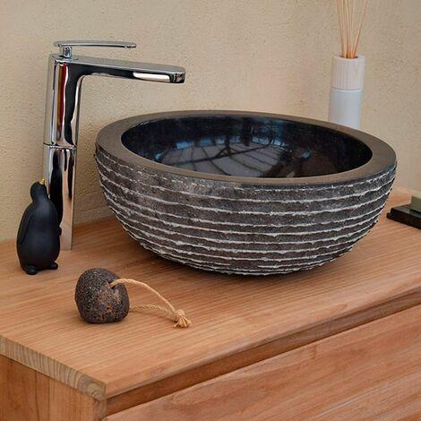 Vasque en Marbre Noir à poser, Marmo - Noir