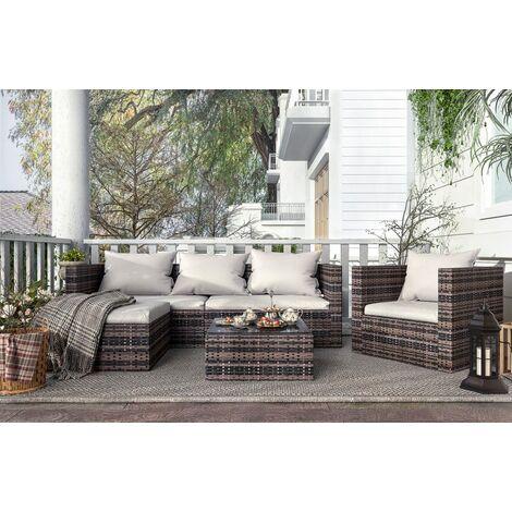 Modular Corner Rattan Sofa