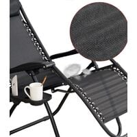 Outdoor 2PCS Adjustable Reclining Sun Lounger