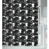 Spirella Rideau de douche Polyester PATCHWORK 120x200cm Noir - Noir
