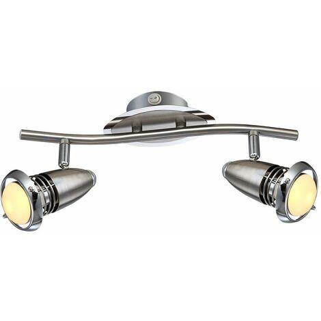 8 vatios LED pared radiador interruptor de la luz de cromo de forma pivotante lámpara Globo 54342-2