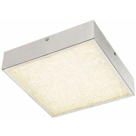 12 Watt LED luces de cristal de la lámpara de techo de los pasillos cromo cuadrado Globo 49226-12