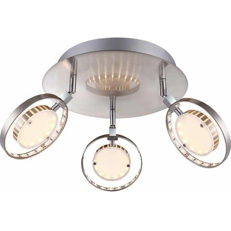 16.5W LED atractivas habitaciones lámpara luz de techo Globo KATHARINA 56108-3