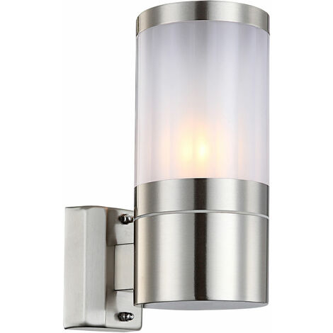 Proyector de pared de la lámpara de pared de iluminación exterior de acero inoxidable ondulado proyector E27 Globo 32014