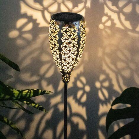 LED solar enchufe exterior lámpara patrón balcón decoración tierra pico iluminación ORO  Globo 33746