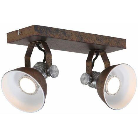 Foco de techo LED para sala de trabajo de color óxido lámpara de estilo industrial ajustable  Steinhauer 1534ZW