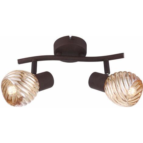 Techo de LED barra de vidrio bola de ámbar foco lámpara lámpara luz de color óxido  Globo 54644-2