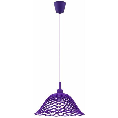 lámpara colgante de techo comedor patrón de iluminación residencial tejido de la luz púrpura Globo 15136