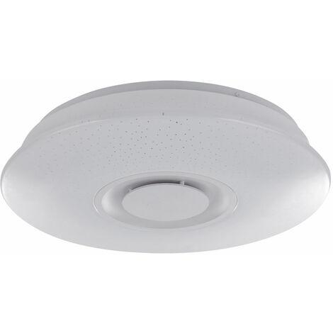Lámpara techo LED Sala dormir Luminaria Estrellas Efecto Bluetooth Altavoz Spotlight Globo 41341-12