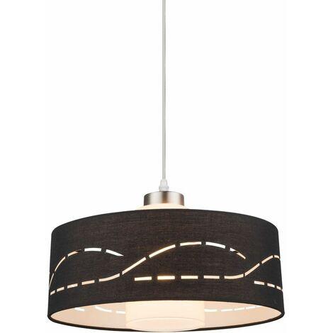 lámpara colgante decorativo de la cocina comedor negro pantalla Iluminación de la decoración textil Globo 15219