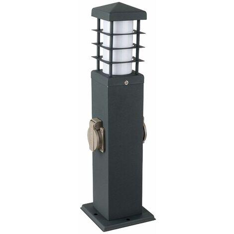 Enchufes exteriores de la lámpara distribuidor de energía proveedor de electricidad columna lámpara de acero inoxidable gris  V-Tac 8822