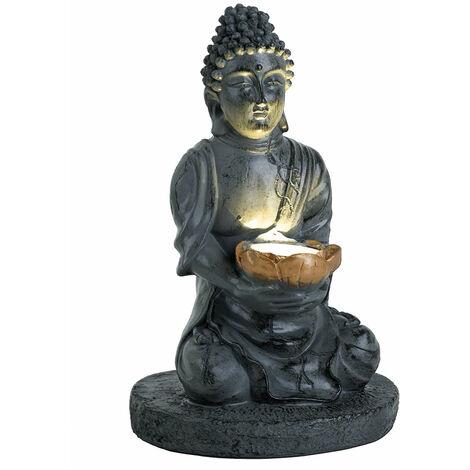 Lámpara solar LED lámpara luz iluminada escultura Buda plástico  Globo 33144