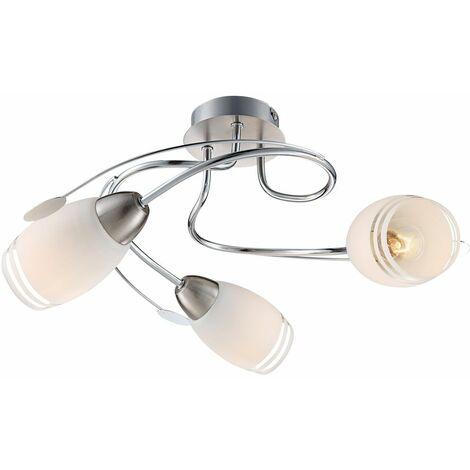 Lámpara de techo habitación para huéspedes habitación cromo lámpara vidrio satinado  Globo 54283-3