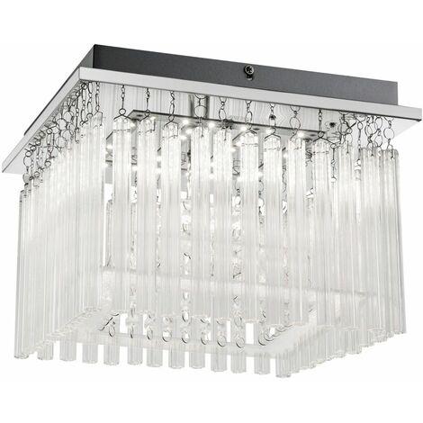 Lámpara de techo LED barras de vidrio cortinas sala de dormir que iluminan la luz cromada  Globo 68567-18A
