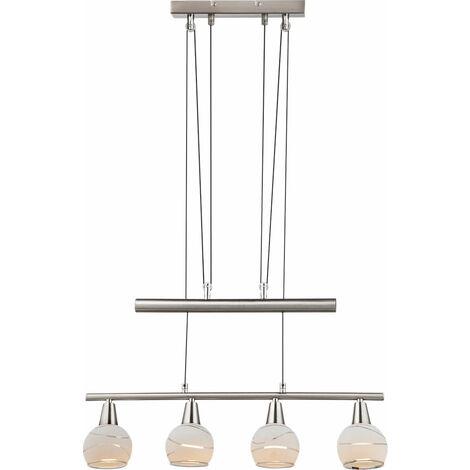 Lámpara de techo LED para colgar mancha de cristal salón barra de tiro altura regulable en altura  Globo 54341-4Z