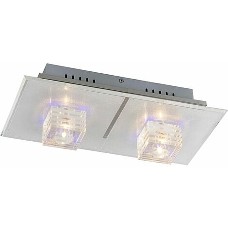 Lámpara de techo LED luz metal cromado tira cambiador de color cambiador  Globo 68326-2