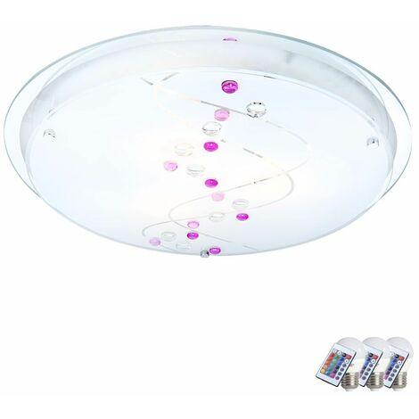 piedras de cristal de la lámpara de techo habitaciones lámpara EEK regulable A en el sistema incluyendo las lámparas LED RGB