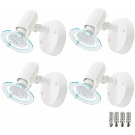 Conjunto de 4 lámparas de pared LED sala de estar y dormir lámparas de iluminación de lectura Foco orientable