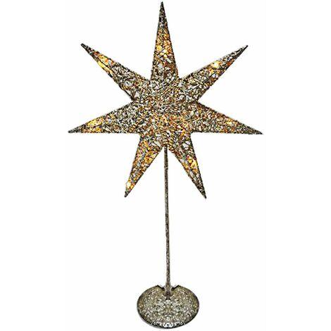 Lámpara de pie de mesa de Navidad LED Advents estrella lámpara plata oro decoración iluminación  Harms 920116