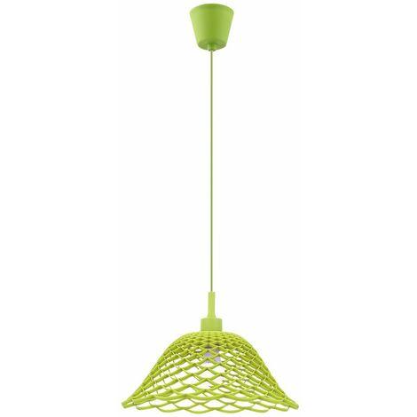 Techo colgante de la lámpara del comedor péndulo iluminación trenzada patrón de luz verde redonda punto  Globo 15137